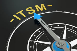 ITSM compass concept 3D rendering isolated on black background